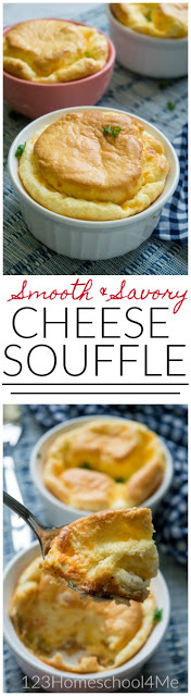 This Cheese Souffle recipe is easy to make and tastes AMAZING! This is sure to be your families new favorite recipe....and it is great for stretching a buck with meal planning. Such a fun, unique egg recipes.