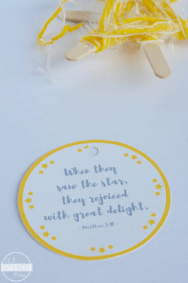 free printable star ornament craft for kids