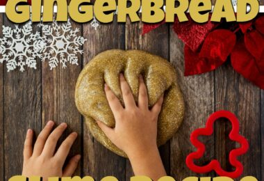 This No Stick Gingerbread Slime Recipe is not only fun to play with, but it smells amazing too! This easy Gingerbread Slime is perfect for strengthening and engaging little hands for some sensory play in December. Make a gingerbread man out of slime, stretch, mold, oooooz and have lots of fun with this Christmas activity for kids! We love this Gingerbread activities with toddler, preschool, pre-k, kindergarten, first grade, and 2nd grade students!