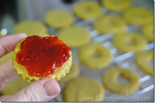 once cool, spread jam and put cookies together