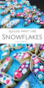 gorgeous snowflake craft from rolled paper