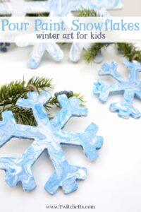 Pour Paint Snowflake Crafts