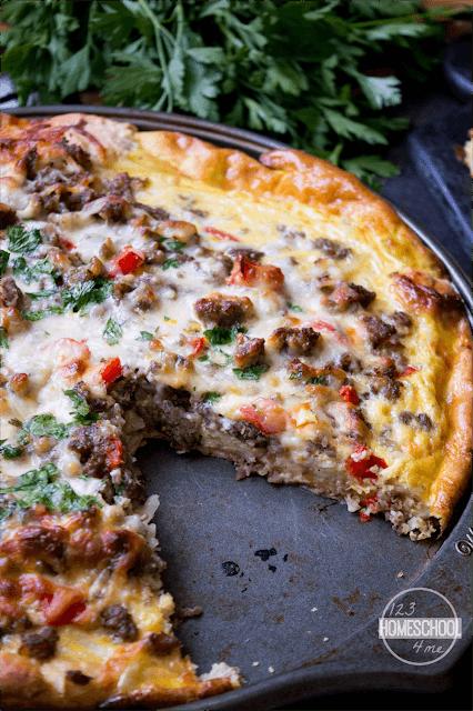 Delicious, easy to make breakfast pizza recipe