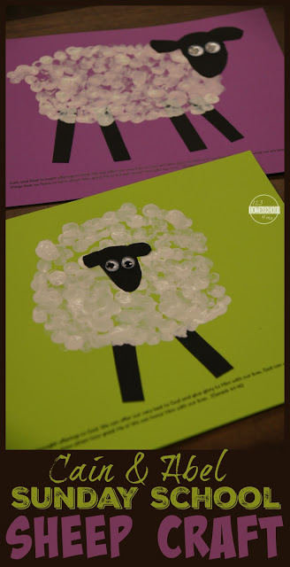 Cain and Abel Bible Craft! This Sunday School Sheep Craft for Kids perfect for preschool, kindergarten, 1st grade, 2nd grade, and 3rd grade kids
