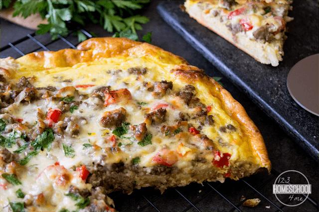 Easy Breakfast Pizza is a family favorite breakfast recipes