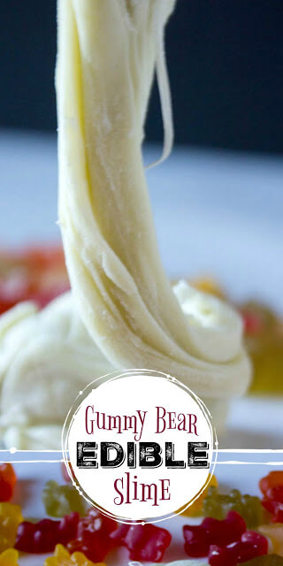 Gummy Bear Edible Slime - This amazing new gummy bear slimeuses actual gummy bearsto make this fun-to-play-with edible slime! Thisedible slime recipe with gummy bears is perfect for toddler, preschool, pre-k, kindergarten, and first grade students. Use it as a kitchen science experiment, play recipe for tactile exploration and sensory activity, use it for a fun rainy day project, or simply use it because it sounds like fun to play with gummy bears today!
