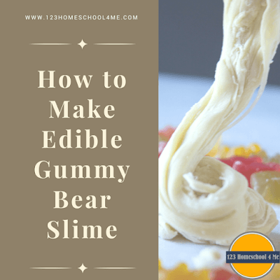 how to make edible gummy bear slime