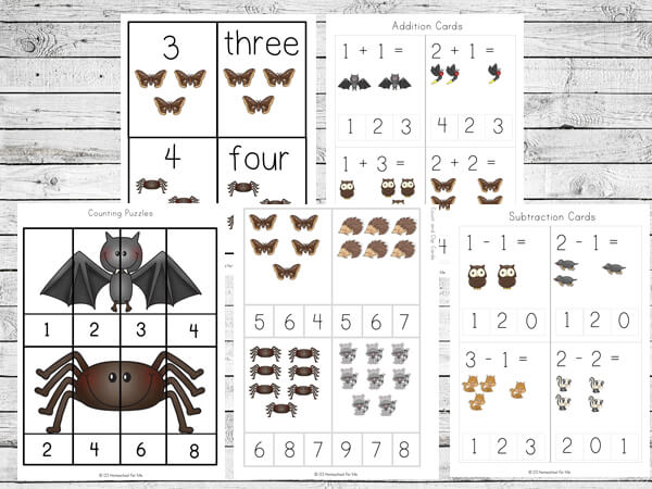 Free Nocturnal Animals Themed Printable Worksheets