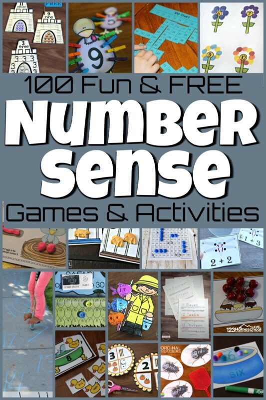 As you teach number sense, or a child's ability to count understand the relationship between the numeral and a tangible objects, and write their numbers is is important that children have to keep them engaged and eager to learn. The most fun you can have is with number sense games. These fun number senseactivities are great to build number sense as you teach your toddler, preschool, pre-k, kindergarten, and first grade students.