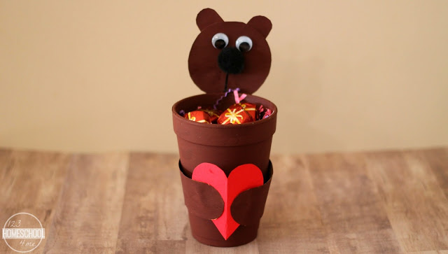 Valentines Day Bear Treat Cup Craft