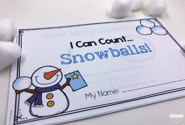 FREE Super Cute Winter Counting Worksheets For Preschoolers