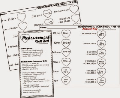 FREE Valentines Day Measurement Worksheets for 2nd-5th grade | 123 ...