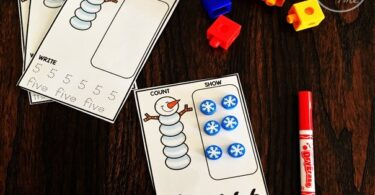 Snowman Counting Cards
