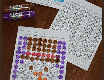 Winter Bingo Marker Worksheets