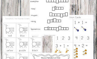 Musical Instruments Printable Pack
