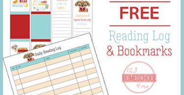 FREE Reading Log and Bookmarks