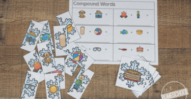 Compound Words Snowflake Puzzles