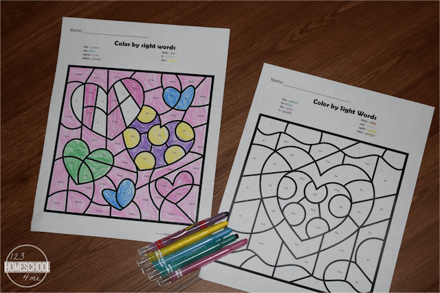 Valentines-Day-Color-by-Sight-Words