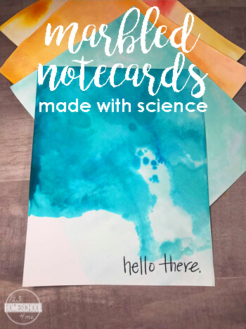 marbled notecards made with science pinnable 2