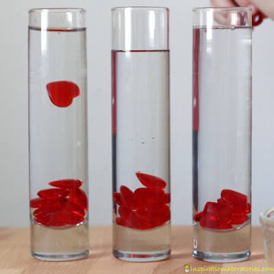 valentines day viscosity science experiment