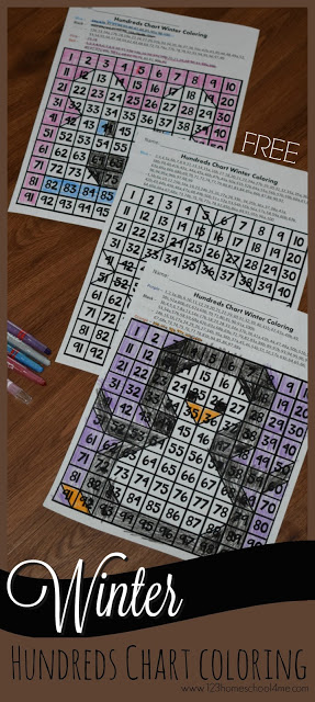 FREE Hundreds Chart Activity - This free printable makes it fun for kids in preschool, kindergarten and first grade kids to practice using a 100s chart and counting to 100 with this fun winter themed activity. Perfect for winter math centers, morning work, and more.These mystery pictures are better than worksheets because they are colored as kids practice.