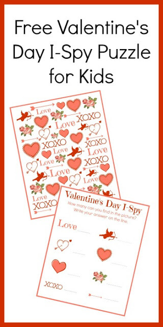 Valentine's Day is just around the corner! Celebrate using these fun, free printable I spy valentines day. This valentines day i spy is great for working on visual discrimination and counting with toddler, preschool, pre-k, kindergarten, and first grade students. It can be used in homeschooling, as a class party activity, or just for a fun valentines day activity for kids in February. Simply download pdf file with valentines day i spy printable to make learning fun for February 14th.