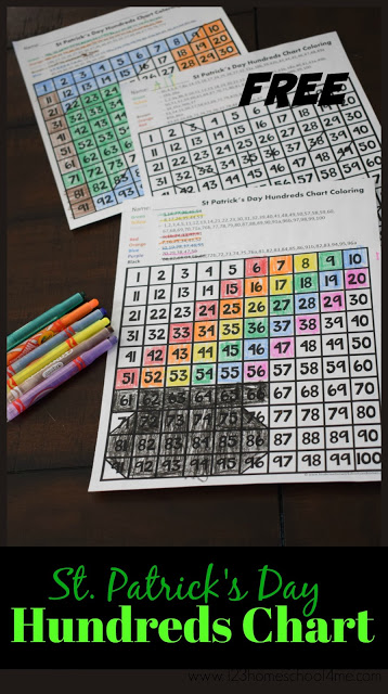 FREE St Patricks Day Hundreds Chart - this is such a fun st. patrick's day worksheet for kids to practice counting to 100, strengthening fine motor skills, and using a 100s chart with a fun march theme. These math worksheets are perfect for preschool, kindergarten, and first grade kids.