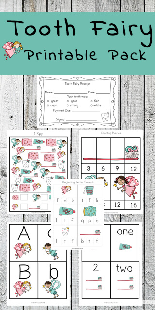 picture relating to Tooth Fairy Printable named Enamel Fairy Worksheets for Children 123 Homeschool 4 Me