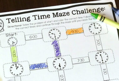FREE-Telling-Time-Mazes