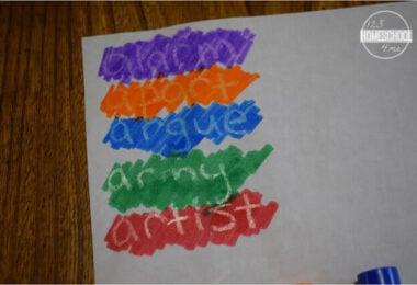 Colorful Secret Code Spelling Practice