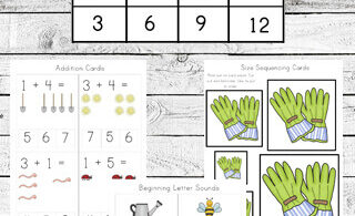 Free Garden Worksheets for Kids
