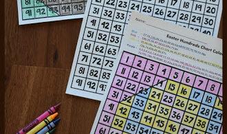 Free Hundreds Chart Easter Coloring Worksheets