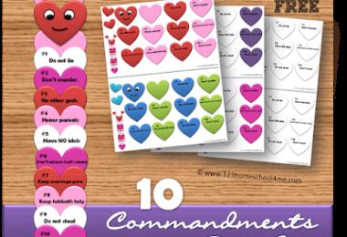 10 Commandment Valentine Craft