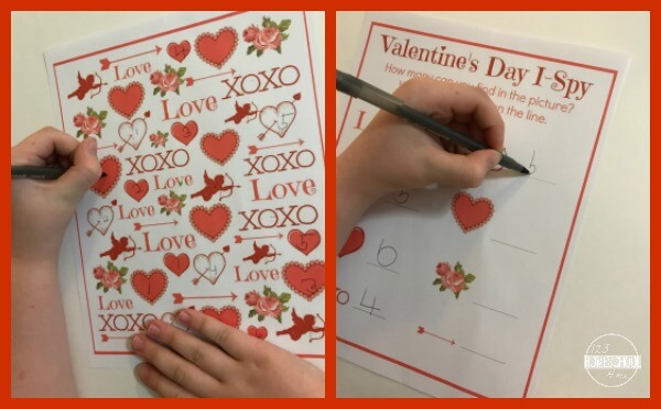 valentines day worksheet for kids