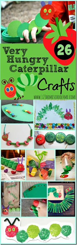 26 The Very Hungry Caterpillar Crafts and Kids Activiites - so many cute eric carle caterpillar crafts for spring - so many unique and clever activities