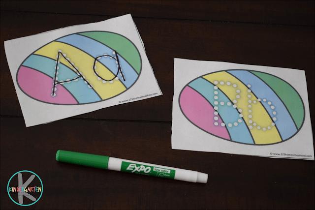 Easter alphabet letters