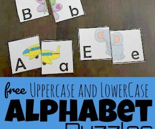 Practice identifying alphabet letters while having fun with these free printable upper and lowercase alphabet puzzle. In this low prep alphabet activity children will work on letter recognition and visual discrimination to make the two-part, self checking puzzles. These super cutealphabet matching is a free abc printables perfect for preschool, pre-k, and kindergarten age children that are learning their abcs. SImply download the Alphabet puzzles printablepdf file with the Alphabet Gameto make learning fun.