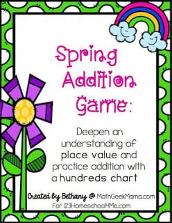 FREE Spring Addition Maths Games