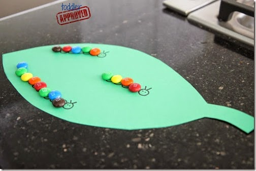 Very Hungry Caterpillar M&M Craft