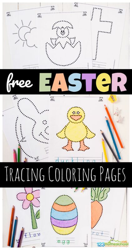 Free Easter Coloring Pages Printable Set with Bunnies, Chicks, and ... | 800x423