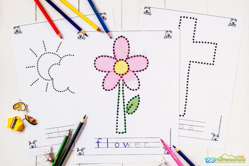 free printable easter tracing pages for toddlers, preschoolers, pre k, kindergarnters to work on strengthening fine motor skills and tracing letters