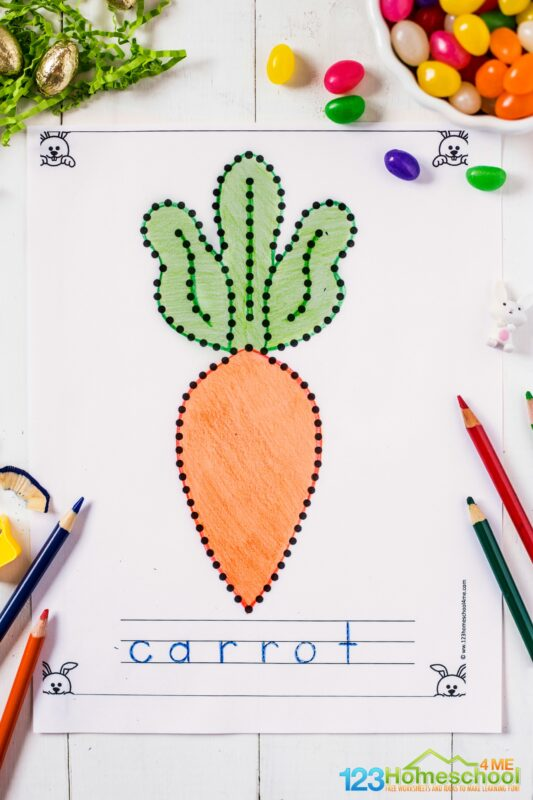 FREE Easter Worksheets for Toddlers, preschoolers, and kindergartners. trace the easter themed picture and trace alphabet letters to strengthen fine motor skills and cordination with this easter activity for kids #easterprintable #eastertracing #easterworksheets #preschool #toddlers