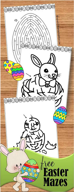 FREE Easter Mazes - 10 pages of Easter printables perfect for Easter activities for kids, Easter dinner, preschool, prek, toddler, kindergarten
