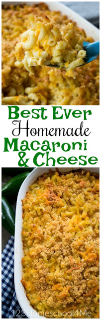 Seriously, this is the BEST EVER Macaroni & Cheese! It is easy to make, no artificial ingredients or preservatives, and most importantly kid tested and approved making it a family favorite
