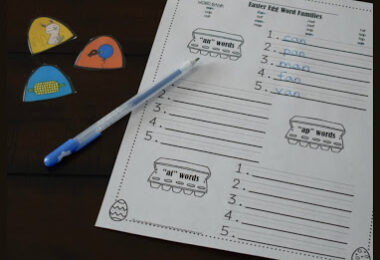 Free Easter Word Families Activity