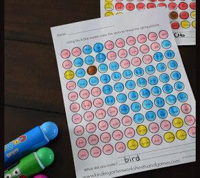 Free Spring Bingo Marker Worksheets