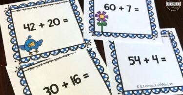 Spring Addition Math Games