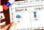 Long Vowel and Short Vowel Cut and Paste Worksheets