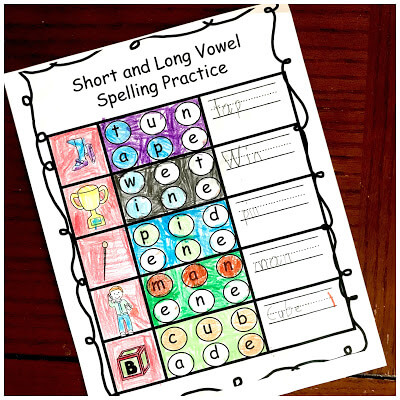 phonics first grade and 2nd grade worksheets