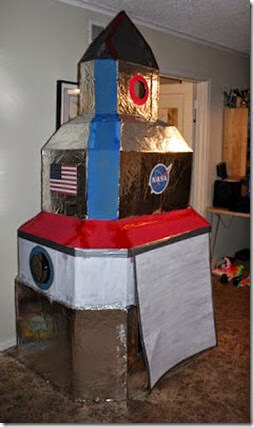 Giant Cardboard Rocket Ship